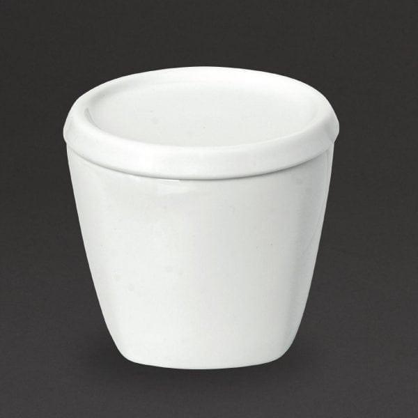 Royal Porcelain Classic Kana Sugar Bowl & Lid White - 160ml 5.5oz (Box 12)-0