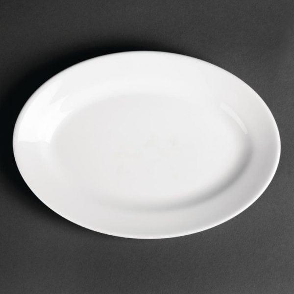 Royal Porcelain Classic Oriental Oval Platter White - 230mm (Box 12)-0