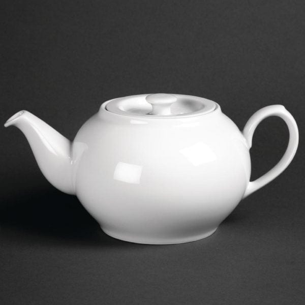 Royal Porcelain Classic Oriental Teapot with lid White - 35oz 1Ltr-0