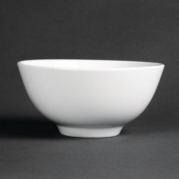 "Royal Porcelain Classic Oriental Noodle/Rice Bowl White - 150mm 6"" 540ml (Box 6)-0"