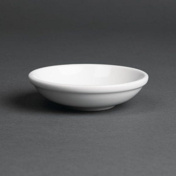 Royal Porcelain Classic Oriental Thick Sauce Dish White - 100mm (Box 48)-0
