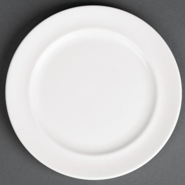 "Royal Porcelain Maxadura Advantage Rimmed Plate White - 170mm 6.7"" (Box 12)-0"
