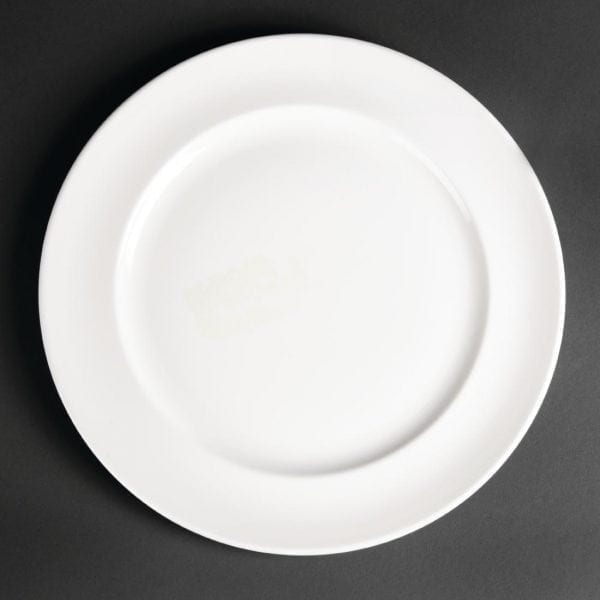 "Royal Porcelain Maxadura Advantage Rimmed Plate White - 280mm 11"" (Box 12)-0"