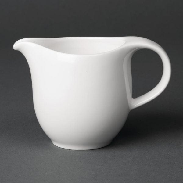Royal Porcelain Maxadura Advantage Creamer handled White - 5.25oz 150ml (Box 12)-0