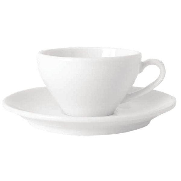 Royal Bone Ascot Footed Coffee Cup White - 7oz 200ml (Box 6)-0