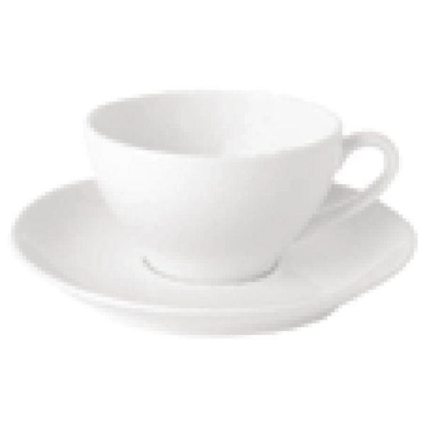 Royal Bone Ascot Footed Teacup White - 250ml 8.8oz (Box 6)-0