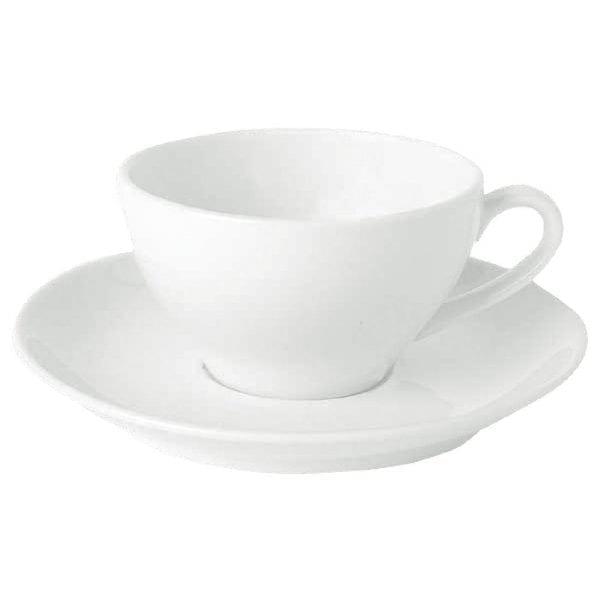 "Royal Bone Ascot Coupe Saucer White - 14cm 5.5"" (fits Cup CG311) (Box 12)-0"