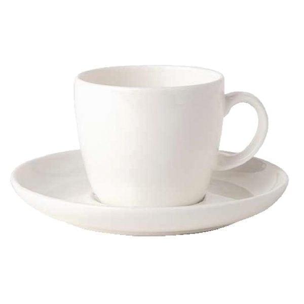 "Royal Bone Ascot Coffee Saucer White - 5.5"" 140mm (fits Cup CG309) (Box 12)-0"