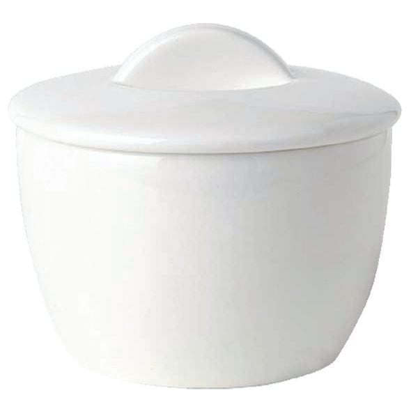 Royal Bone Ascot Sugar Bowl with Lid White - 7.75oz 220ml (Box 12)-0