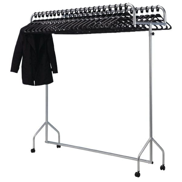 Twin Top Grey Garment Rail-0