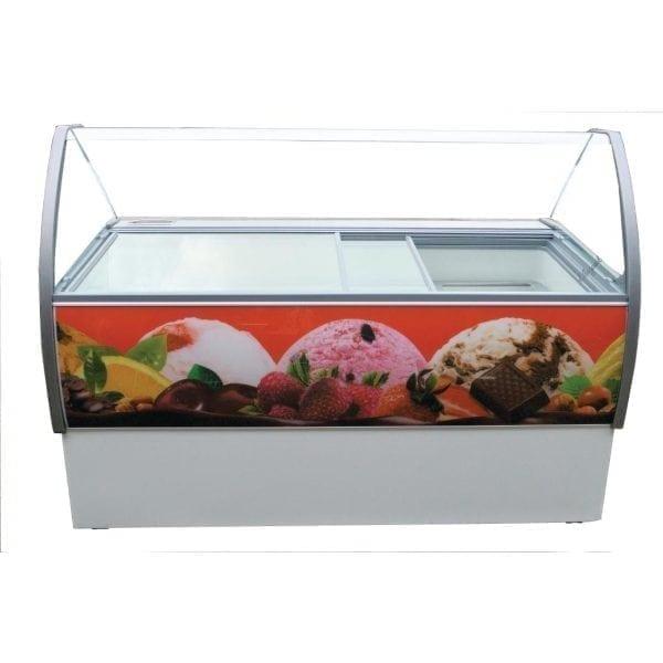 Crystal Venus Elegante 56 13 Pan Ice Cream Display Counter -15 to -22C (Direct)-0