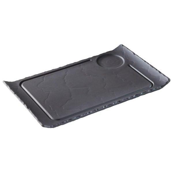 """Revol Basalt Hamburger Plate - 330x200mm 13x7.75"""" (Box 3)-0"""