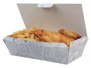 Medium Newsprint Food Box (Box 150)-0