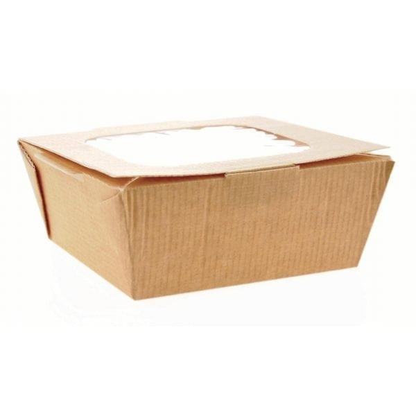 Medium Food to Go Box (with Window) 125x125x60mm (Box 270)-0