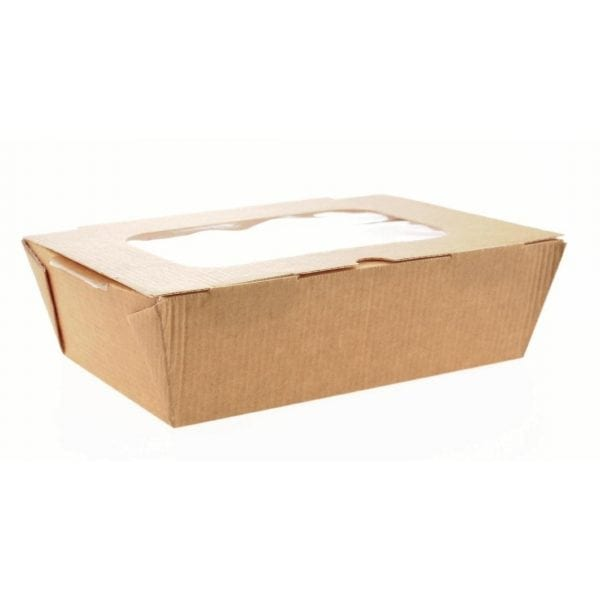 Large Food to Go Box (with Window) 185x125x60mm (Box 180)-0