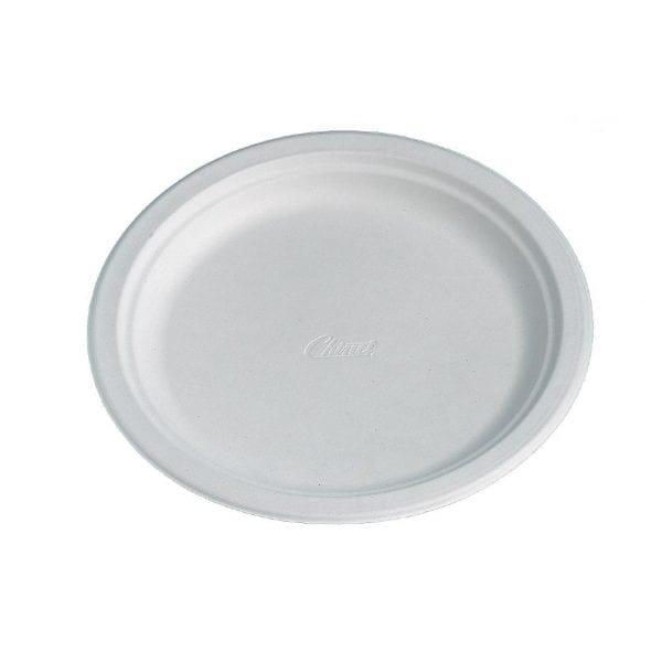 "Chinet Round White Plate - 9 3/4"" (Sleeve 100)-0"