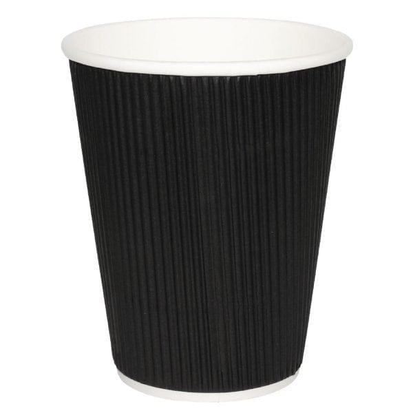 Fiesta Hot Cups Ripple Wall Black - 228ml (8oz) (Sleeve 25)-0
