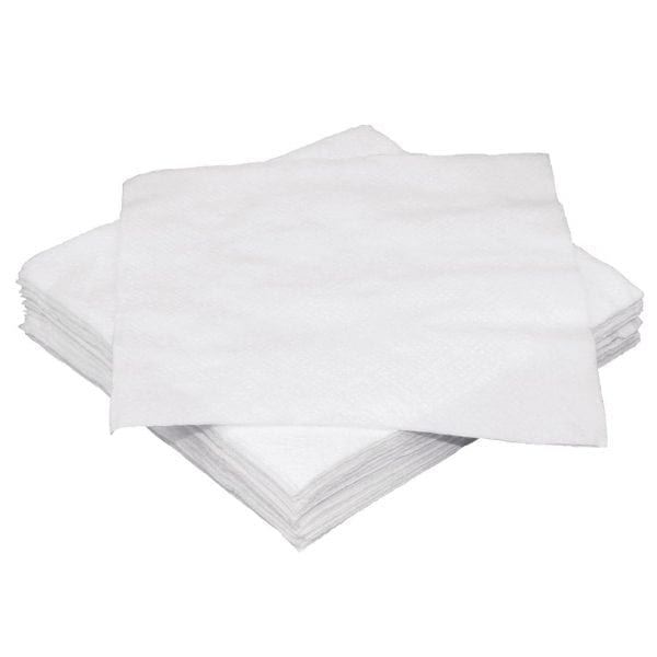 Fiesta White Cocktail Napkin - 240x240mm 1 Ply (Pack 250)-0