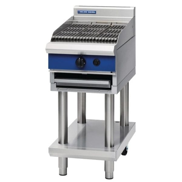 Blue Seal 450mm Chargrill on Leg Stand Natural Gas (Direct)-0
