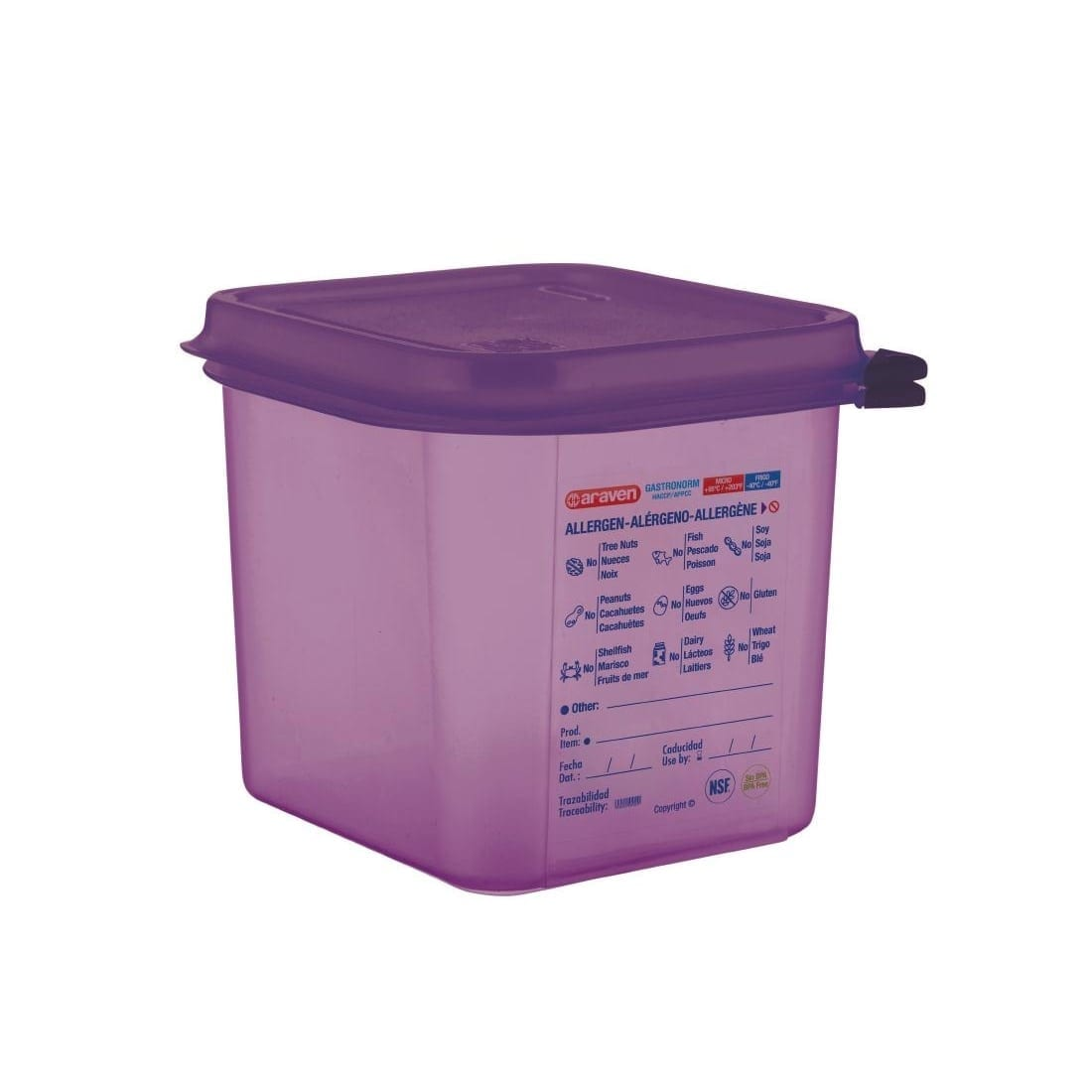 Araven Allergen Container GN - 1/6 2.6Ltr & Airtight Lid-0