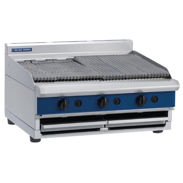 Blue Seal 900mm wide Chargrill Bench Natural Gas (Direct)-0