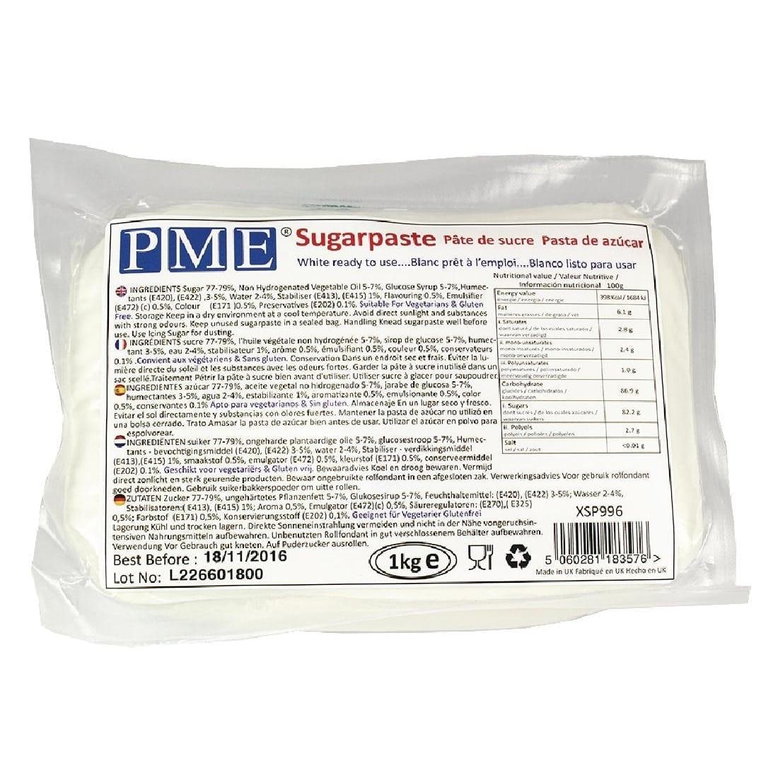 PME Sugarpaste White - 1kg-0