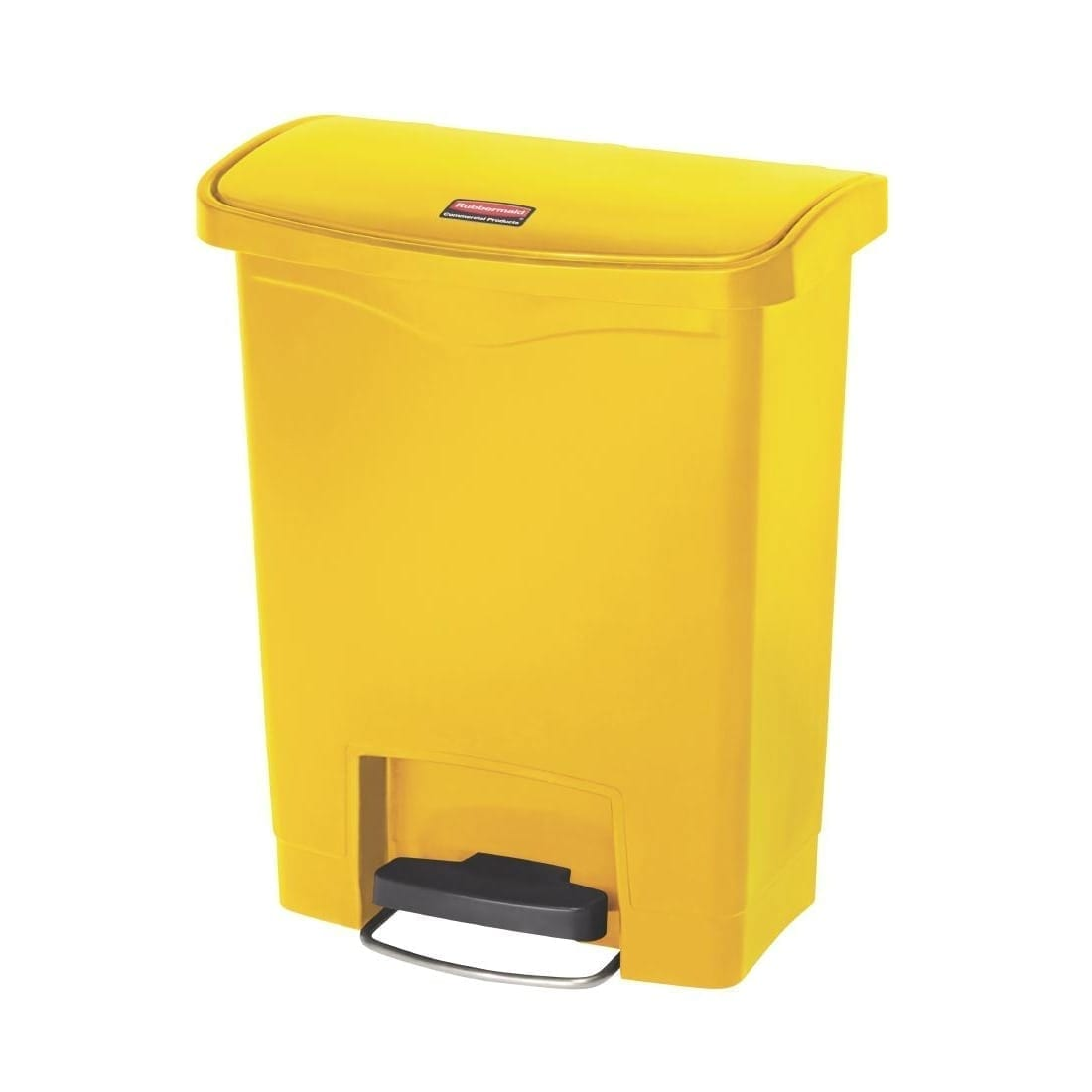 Rubbermaid Slim Jim Step on Resin Front Pedal Yellow - 30Ltr (B2B)-0