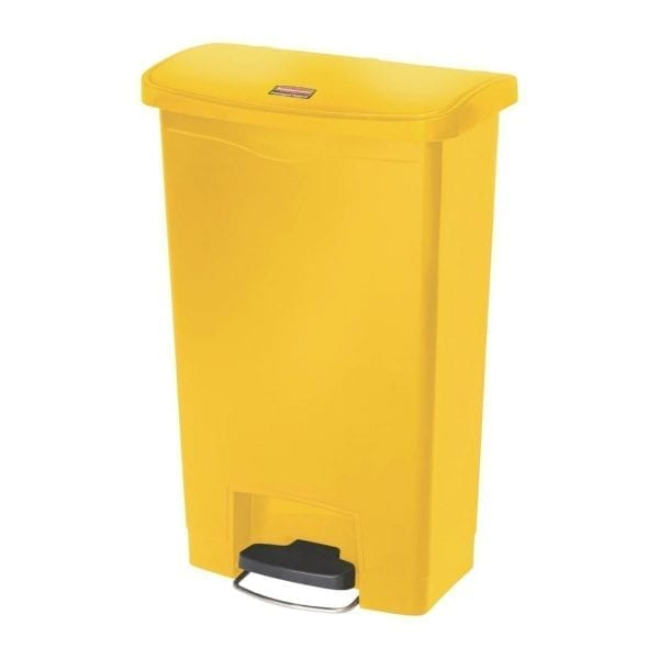 Rubbermaid Slim Jim Step on Resin Front Pedal Yellow - 50Ltr (B2B)-0