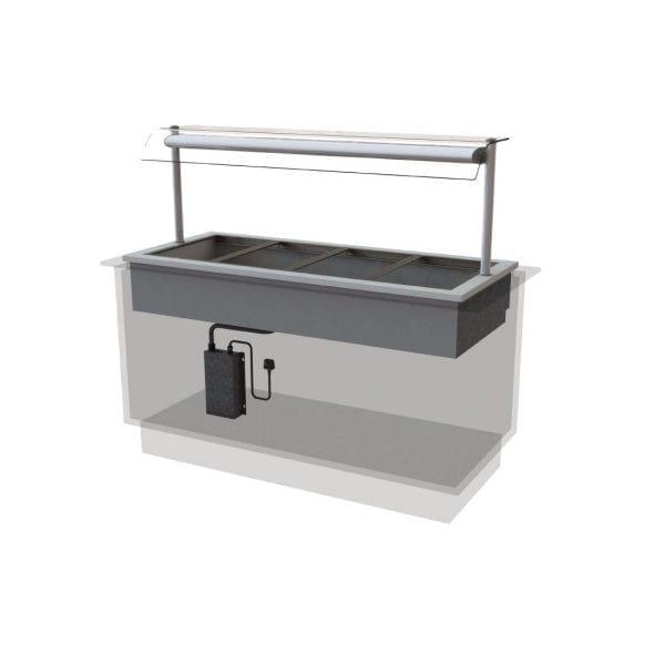 Designline Dry Heat Bain Marie Self Service 1525mm (L) (Direct)-0
