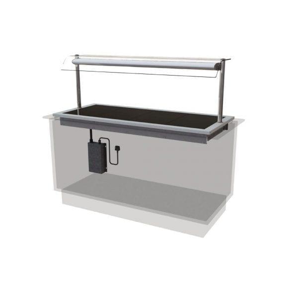 Designline Ceran Glass Hotplate Self Service 1525mm (L) (Direct)-0