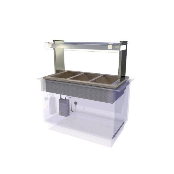 Kubus Dry Heat Bain Marie Self Service 1175mm (L) (Direct)-0