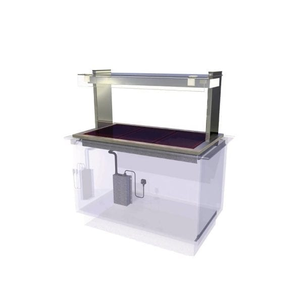 Kubus Ceran Glass Hotplate Self Service 1175mm (L) (Direct)-0
