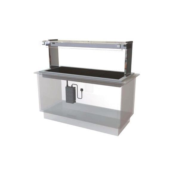 Kubus Ceran Glass Hotplate Self Service 1525mm (L) (Direct)-0