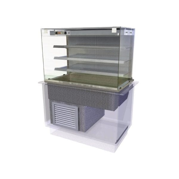 Kubus Cold Multideck (Fixed Back) Self Service 1175mm (L) (Direct)-0