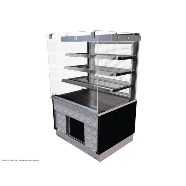 Kubus Cold Patisserie (Rear Door) Assisted Service 900mm (L) (Direct)-0