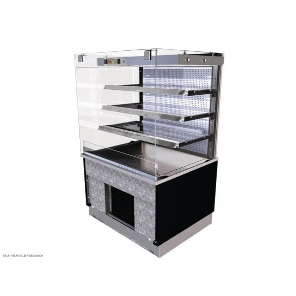 Kubus Cold Patisserie (Fixed Back) Self Service 900mm (L) (Direct)-0