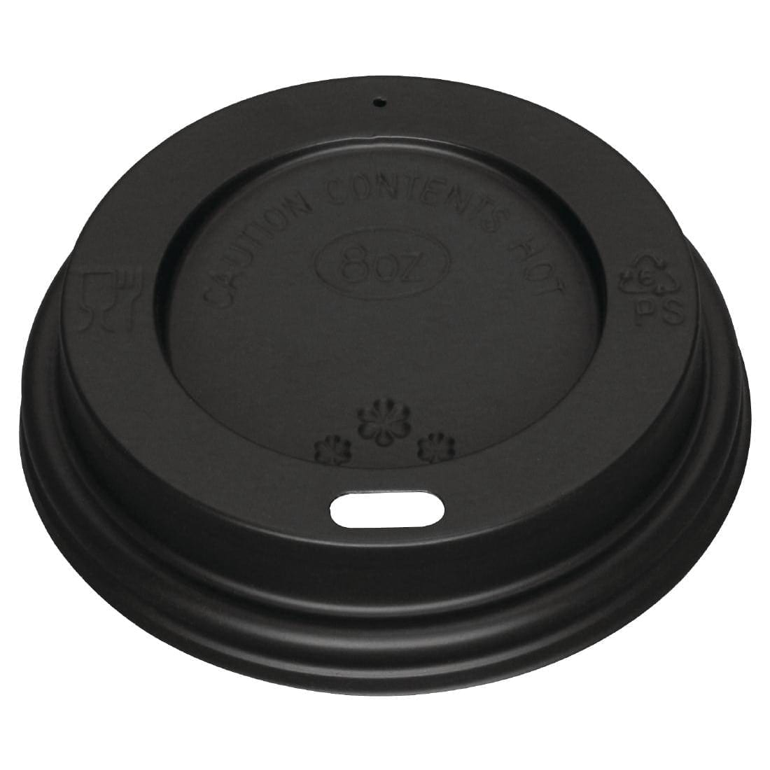 Fiesta Lid For Hot Cups Black - 8oz (Pack 50)-0