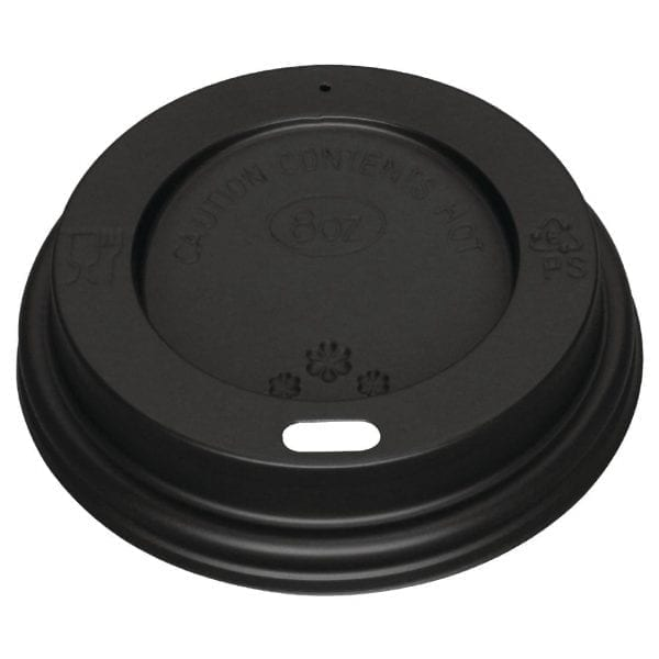 Fiesta Lid For Hot Cups Black - 8oz (Pack 1000)