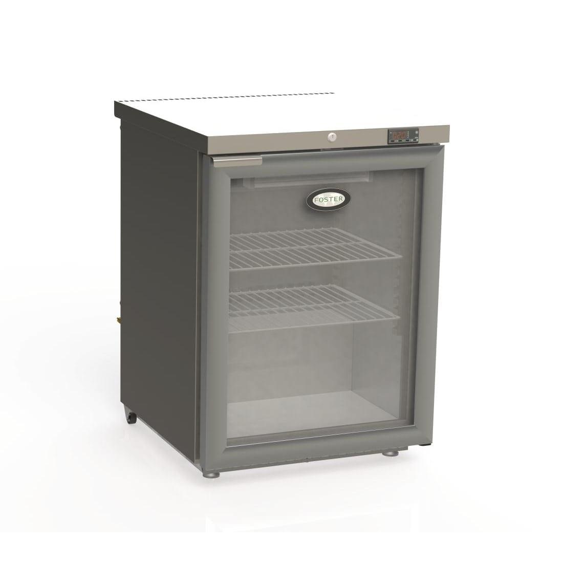 Foster 1 Glass Door 150Ltr Undercounter Fridge R290 (StSt Ex Alu In) (Direct)-0