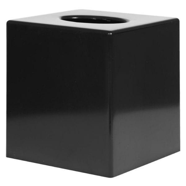 Black Cube Tissue Holder-0