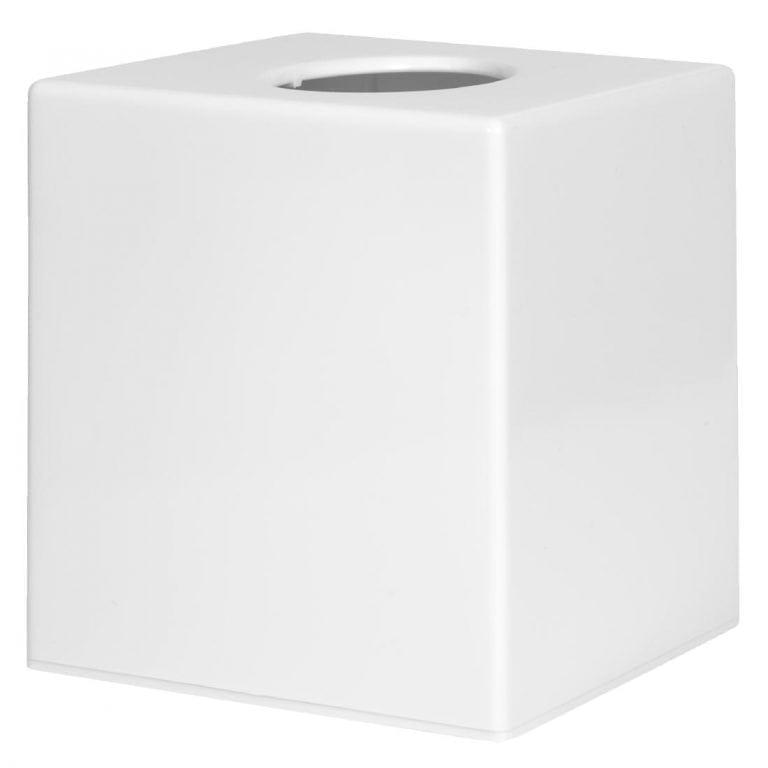 White Cube Tissue Holder-0