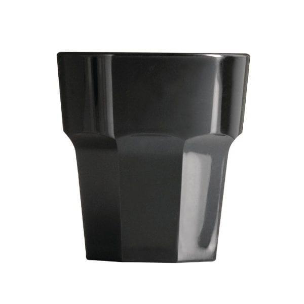 BBP Rocks Tumbler Black Polycarbonate - 256ml 9oz (Box 36)-0