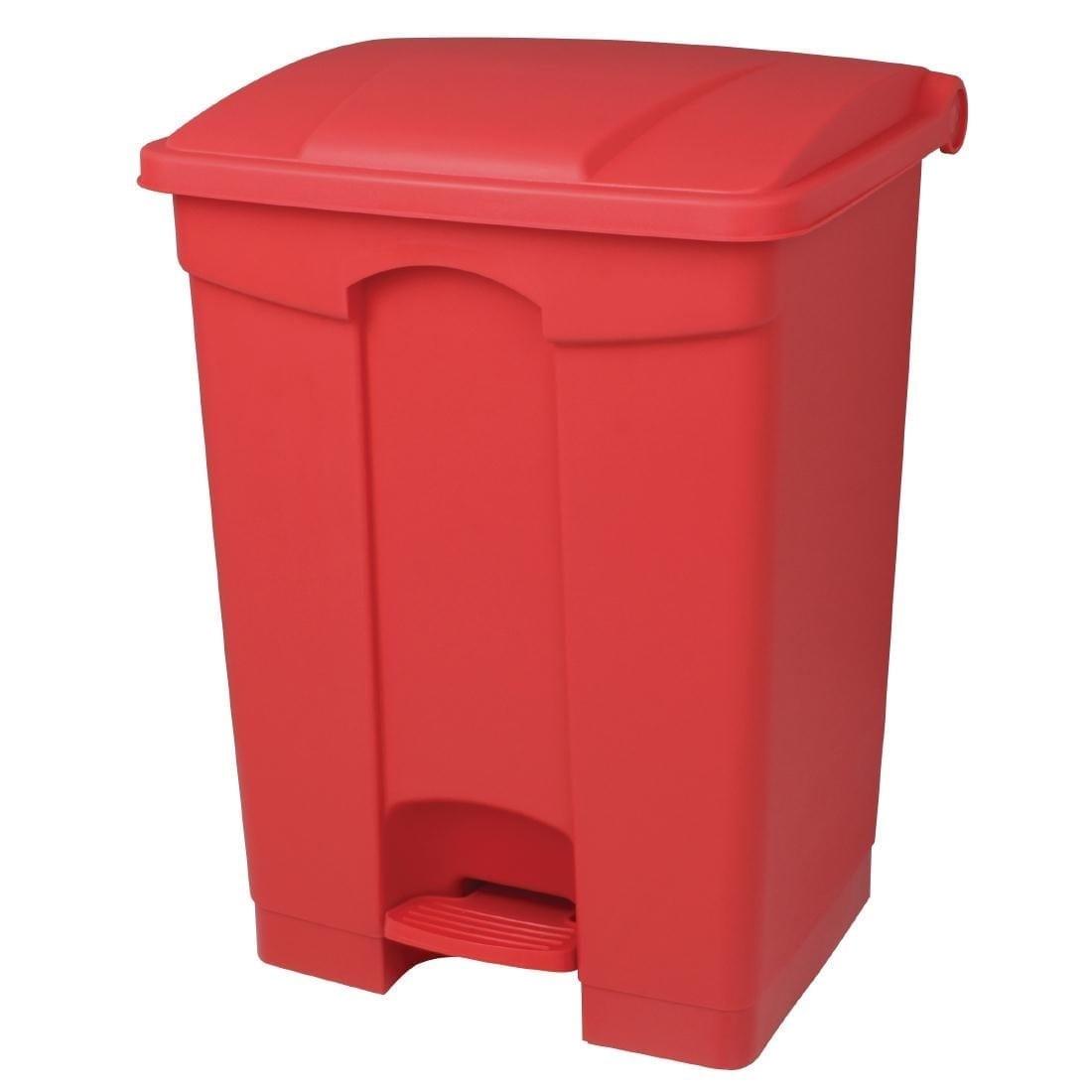 Jantex Kitchen Pedal Bin Red - 65Ltr-0