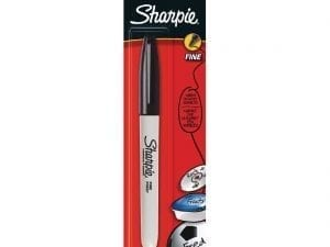 Sharpie Fine Permanent Marker Black Blister (Pack 1)-0