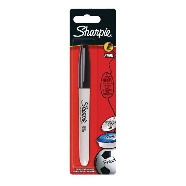 Sharpie Fine Permanent Marker Black Blister (Pack 1)-0