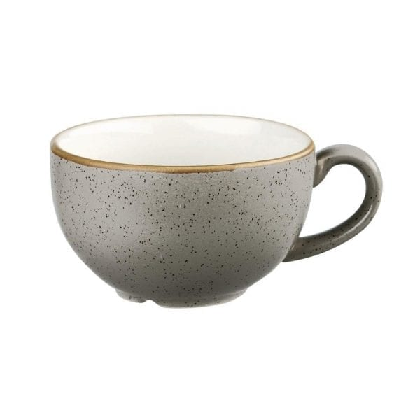 Churchill Stonecast Cappuccino Cup Peppercorn Grey - 8oz (Box 12) (Direct)-0