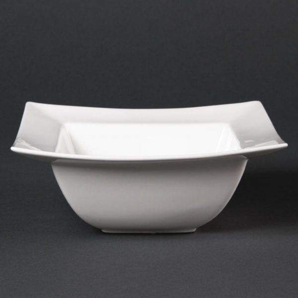 "Lumina Wide Rimmed Square Bowl - 165mm 6.5"" (Box 6)-0"