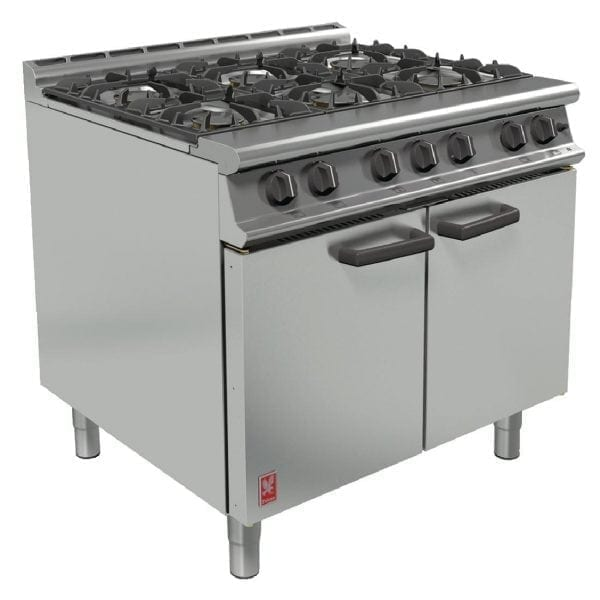 Falcon 6 Burner Dominator Plus Range Propane with feet (Direct)-0