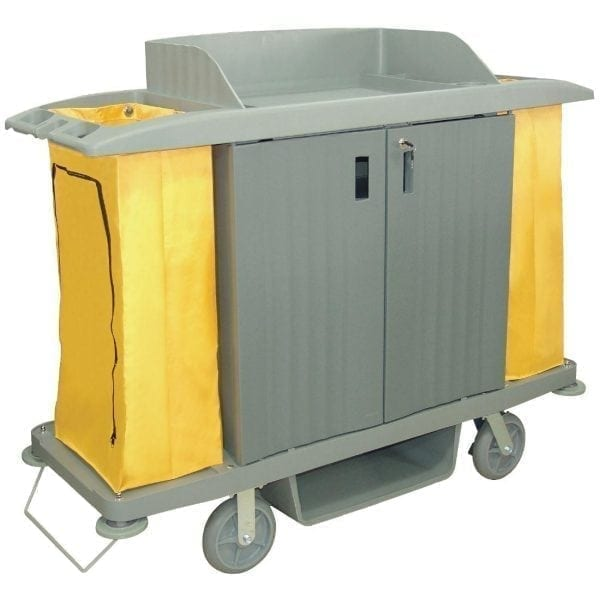 Jantex Housekeeping Trolley with Doors - 1540x540x1285mm-0