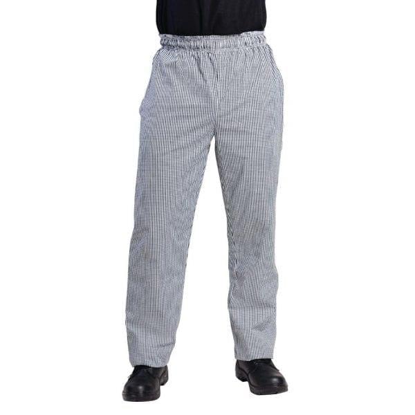Vegas Small Black & White Check Trousers Polycotton - Size M-0